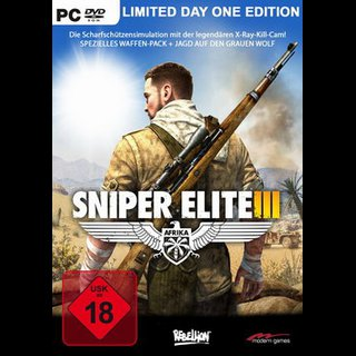 Sniper Elite 3 Afrika  Limited Day One Edition  PC